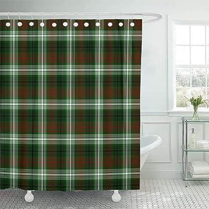 Emvency Shower Curtain British Tartan Plaid Checkered Culture Fab Heritage Waterproof Polyester Fabric 72 X