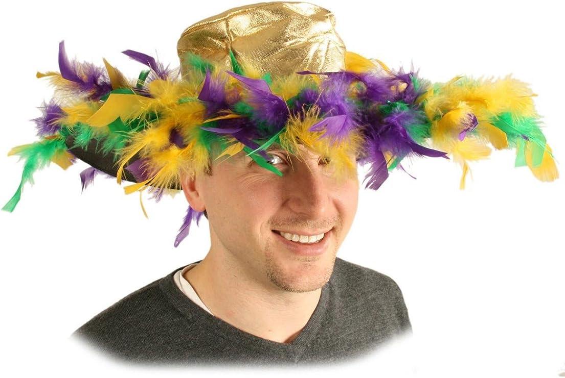 Mardi Gras Feather Hat