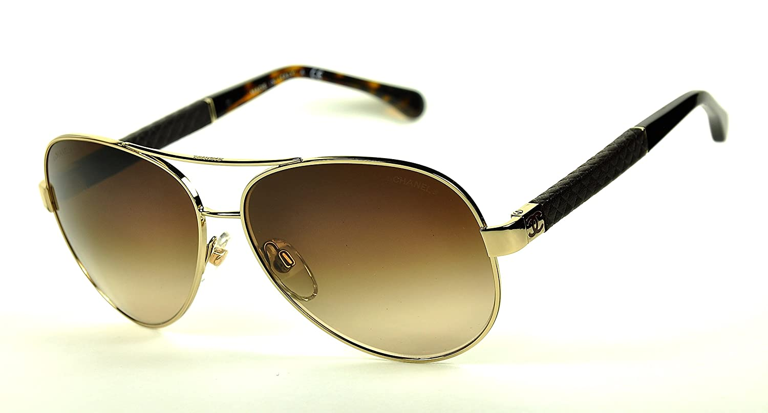 b06d156bf1ad Chanel 4195-Q Sunglasses color 395-3B Gold/Brown gradient: Amazon.ca:  Clothing & Accessories