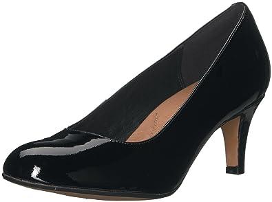 00226585ebf4 CLARKS Women s Heavenly Heart Black Patent Leather Shoe