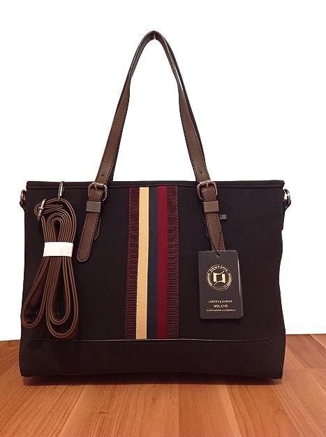 3ceda8bca Johnny & Johnny Mailand Bags - Bolso de tela para mujer negro negro ...