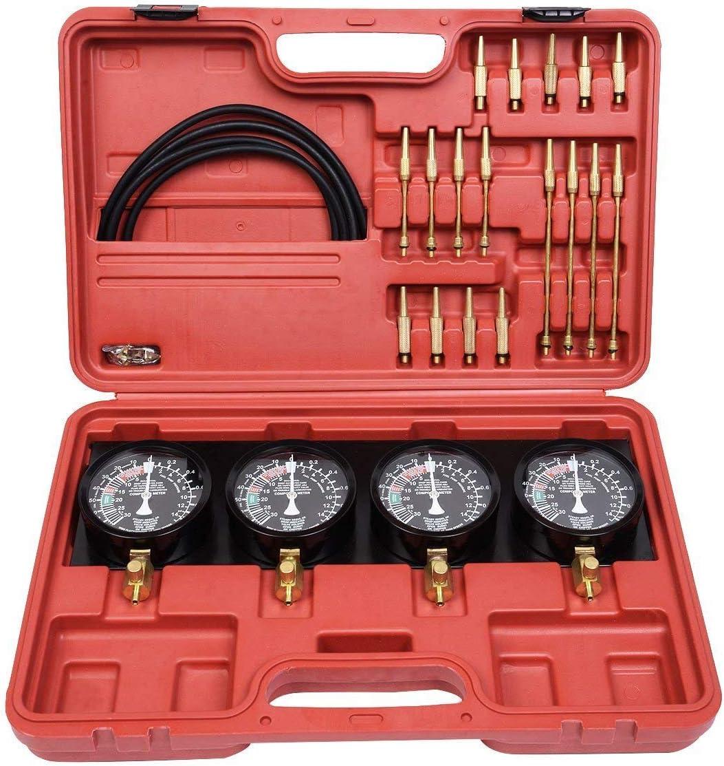 NAIZY Motorwerkzeug Synchron Testger/ät Synchronuhren Vakuum Vergaser Synchronizer Kit 4 Messger/äte Werkzeugset f/ür Motorrad Auto Universal