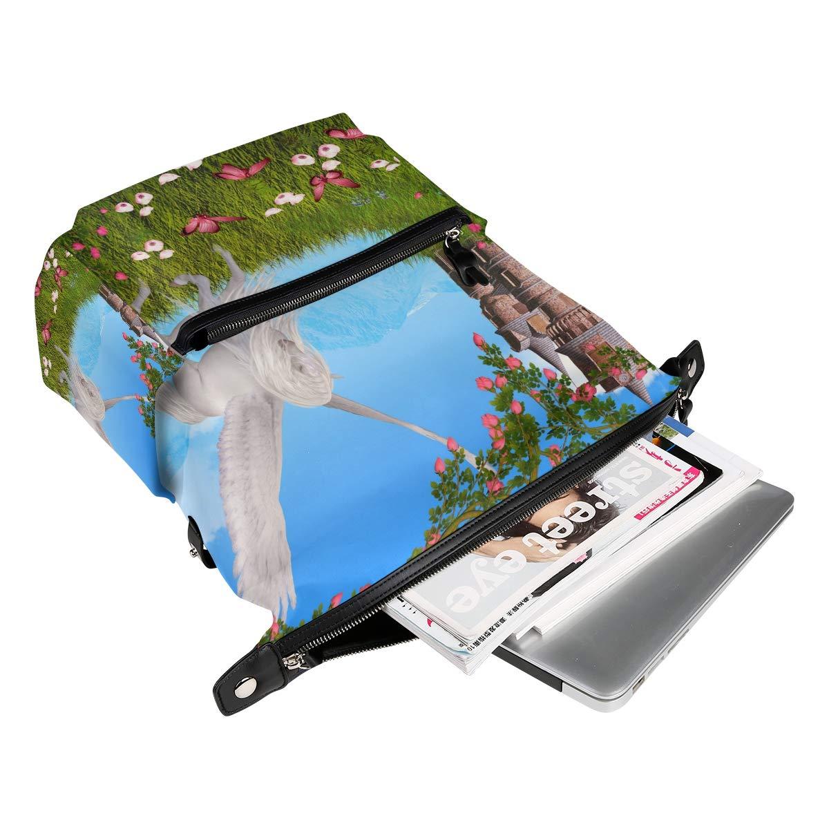 2643aff633 ... TIZORAX unicorni floreale farfalla castello scuola zaino Zaino Zaino  Zaino borse College Bookbags per Teen ragazzi ...