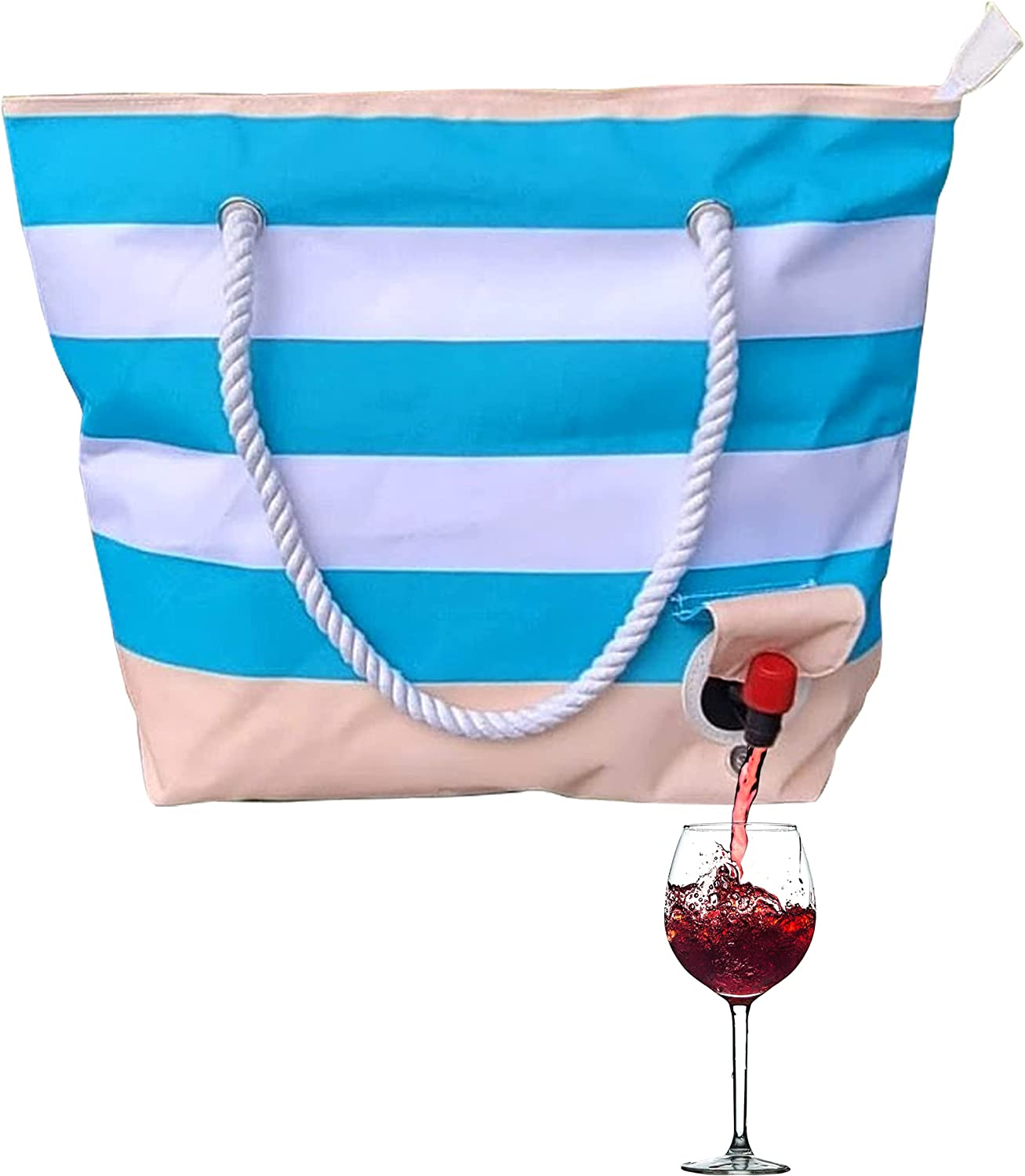 Insulated Wine Purse - Portable Tote w/Spout for Wine, Beer, Any Beverage - Gift for Wine Lovers