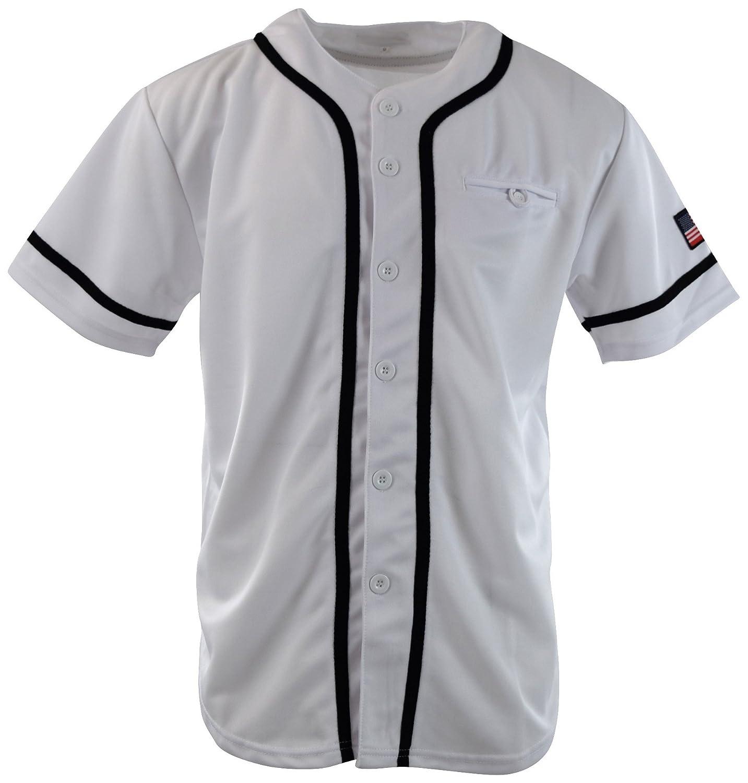 メンズプレーンソリッドカラー野球ジャージー B071ZNG6WV S|Mf201-white Mf201-white S
