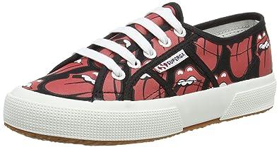 SupergaSuperga Fancotu Black/Lips - Zapatillas Adultos Unisex, Color Rojo, Talla 43