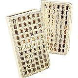1X Für HTC One Mini M4 Diamant Leder Strass Bling Tasche Flip Case Glitzer Book Wallet Hülle Cover ID Card Karte Etui - Weiß Silber