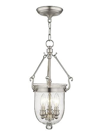 Bell jar lighting fixtures Southern Lights Image Unavailable Patrickmingesinfo Livex Lighting 508391 Jefferson Light Brushed Nickel Bell Jar