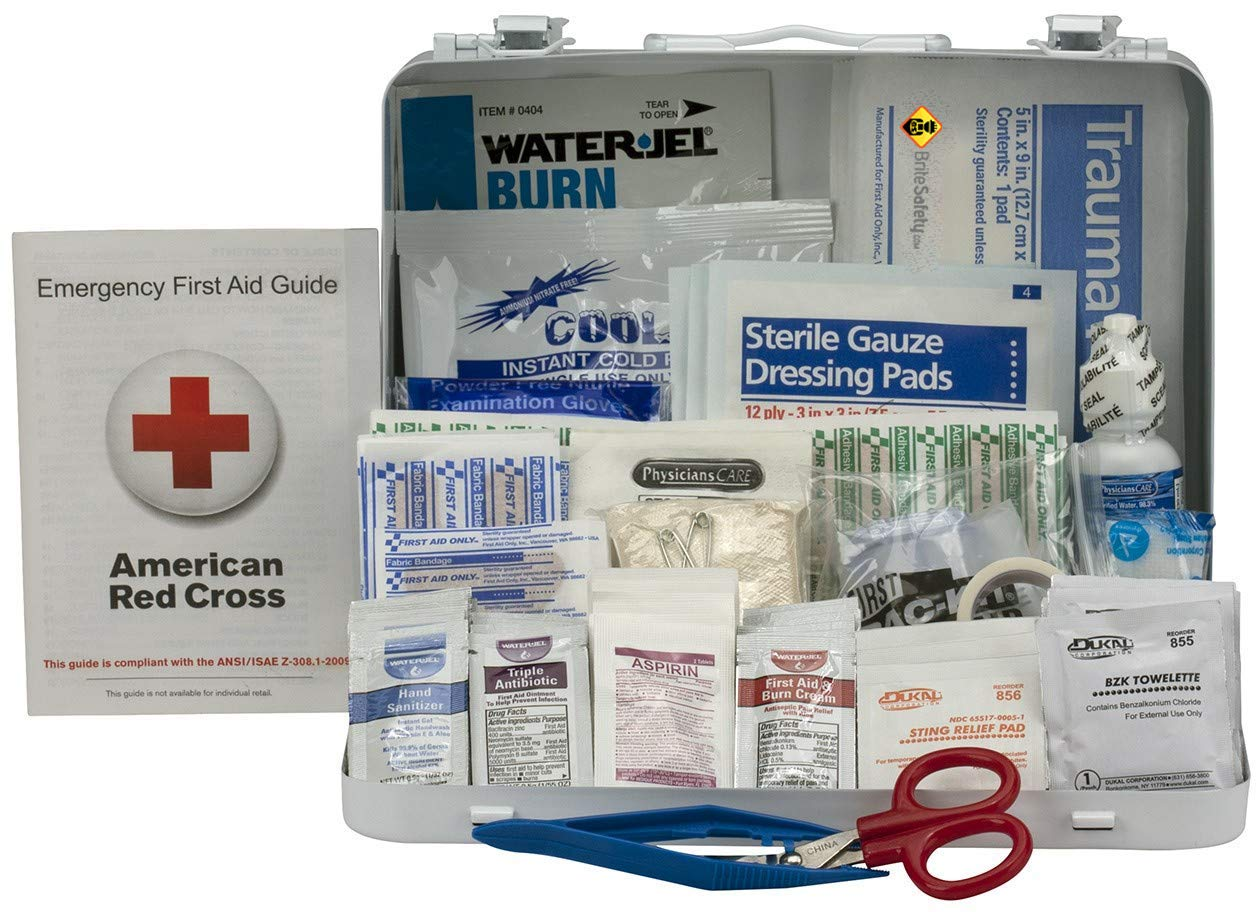 25 Person First Aid Kit, ANSI A+, Type III Metal Case - OSHA