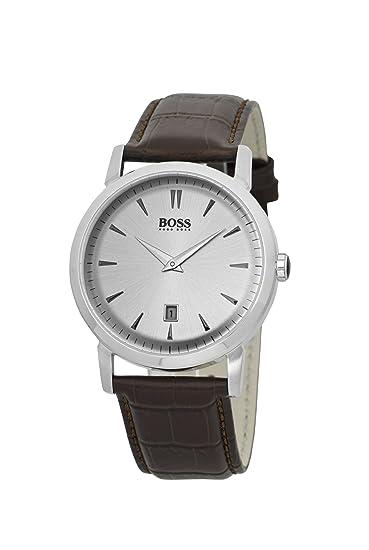 d66e844ac0c2 Hugo Boss 1512636 - Reloj analógico de cuarzo para hombre con correa de  piel