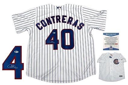 996df7d2f Willson Contreras Autographed Jersey - Majestic Beckett - Beckett  Authentication - Autographed MLB Jerseys