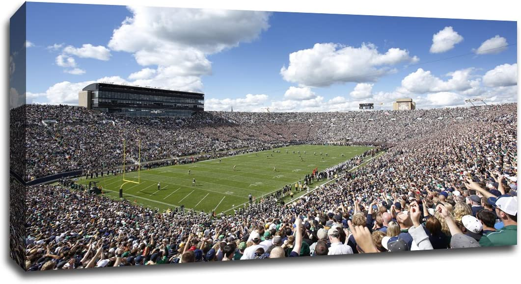 Notre Dame - College Football - 40x22 Gallery Wrapped Canvas Wall Art