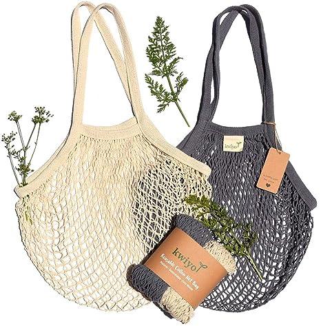 Amazon.com: Kwiyo - Bolsas reutilizables de algodón para ...