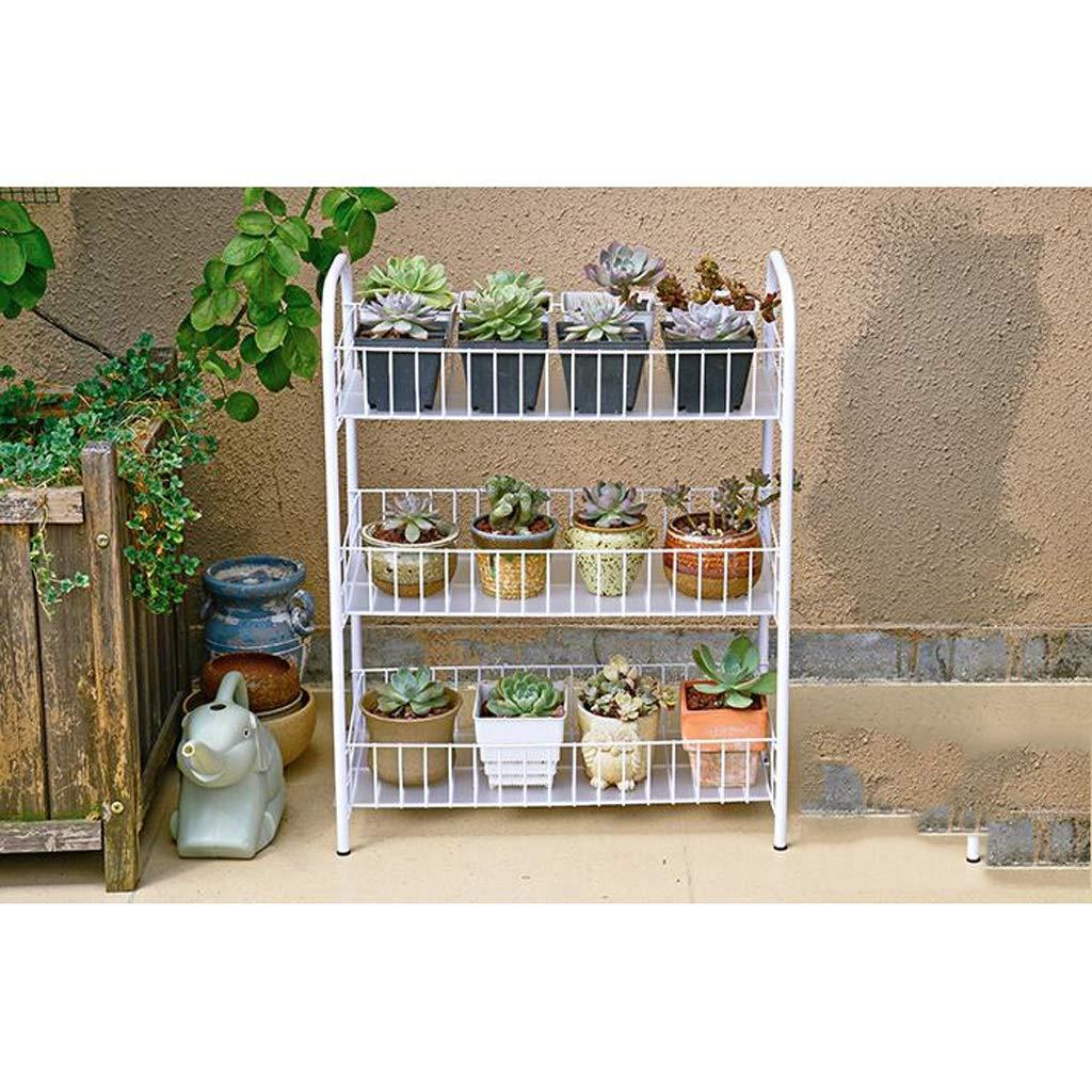 CSPMM Iron Art Flowerpot Stand, Plant Stand, Portabottiglie in Metallo per Fiori Garden Patio Scaffali per pianta Flower Pot Rack Espositore Indoor e Outdoor (Dimensioni   Medio)