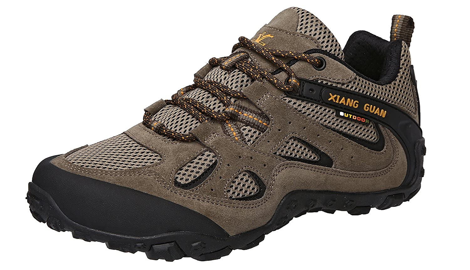 XIANG GUAN Men's Outdoor Low-Top Lightweight Trekking Hiking Shoes