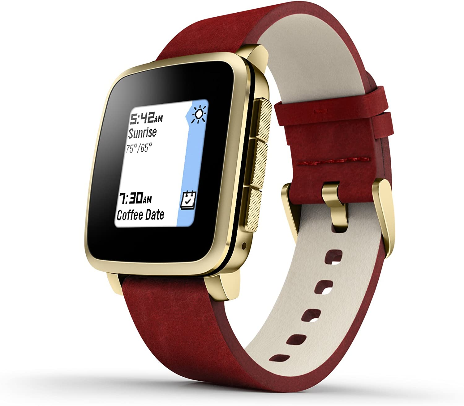 Pebble Time Steel Smartwatch for Apple/Android Devices - Gold