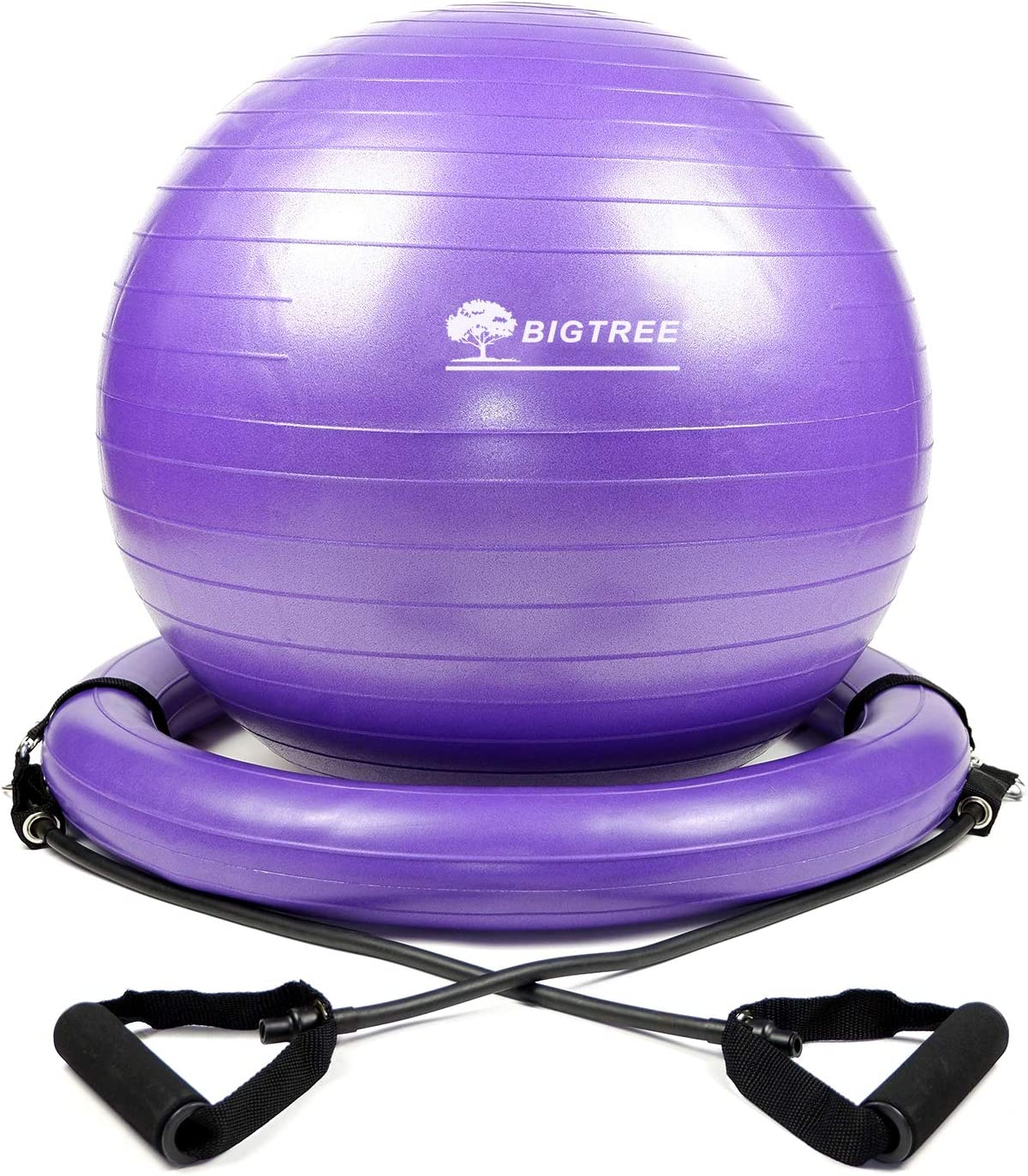 BIGTREE Exercise Ball Chair with Resistance Bands Perfect for Office Yoga Balance Fitness Super Strong Set