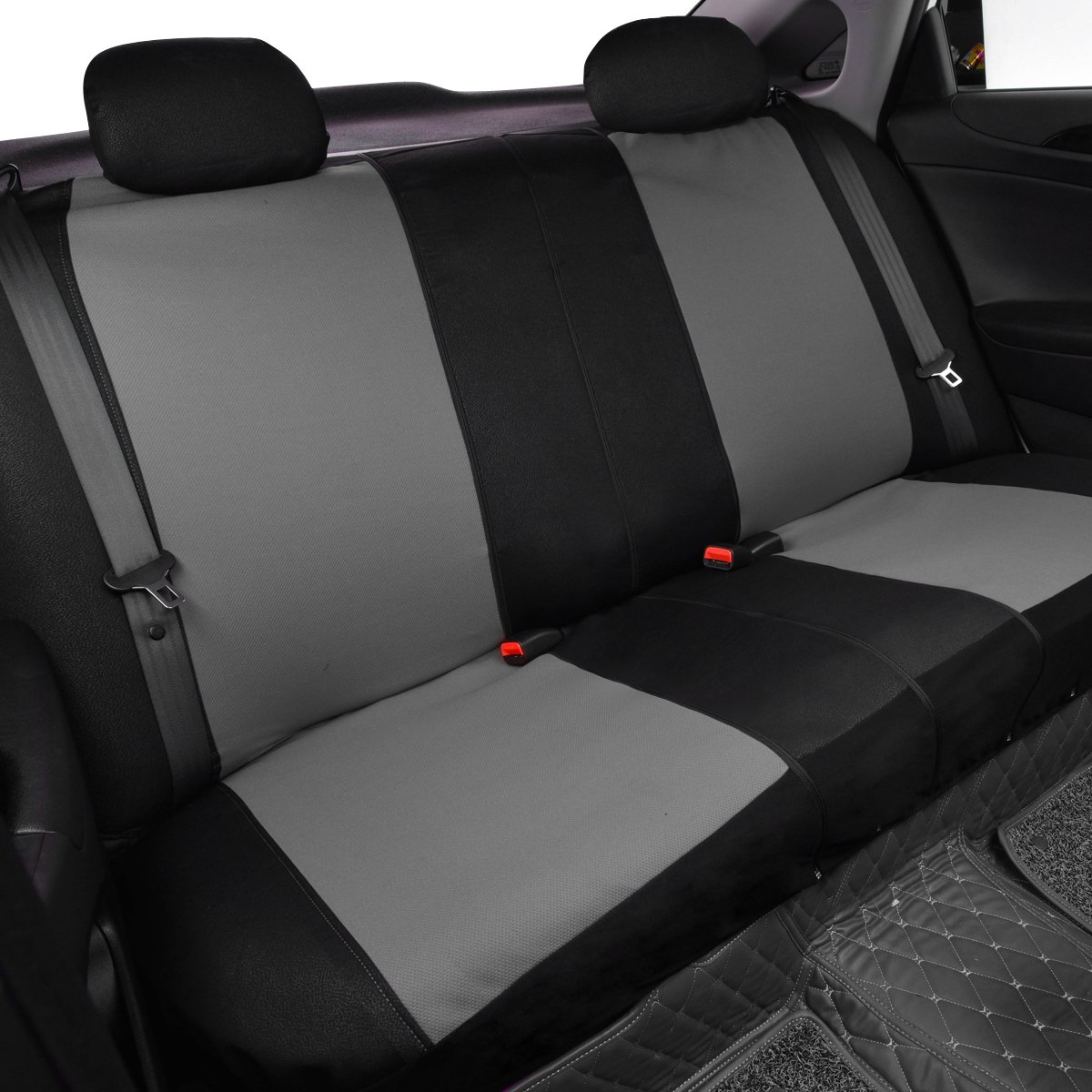 Black Car Pass Montclair Universal Fit Car Seat Covers with Opening Holes for Headrest and Seat Belts