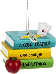 Twisted Anchor Trading Co Teacher Ornament Teacher Christmas Ornament - 2020 Teacher Gifts for Teachers - A Good Teacher Can Change Everything - Comes in A Gift Box