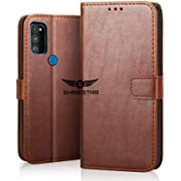 SHINESTAR PU Leather Flip Wallet Case with TPU Shockproof Cover for Samsung Galaxy M30s (Classic Brown, Samsung Galaxy M30s)
