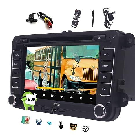 EINCAR Doble DIN Android 6.0 Coches Reproductor de DVD para VW Passat Golf Quad Core 7