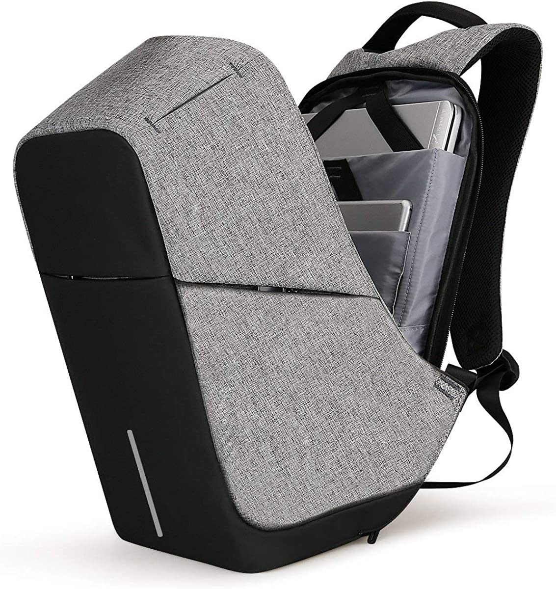 HK Laptop Backpacks Anti Theft with USB Charging Travel Pack Fits Under 15.6 Inch Laptop