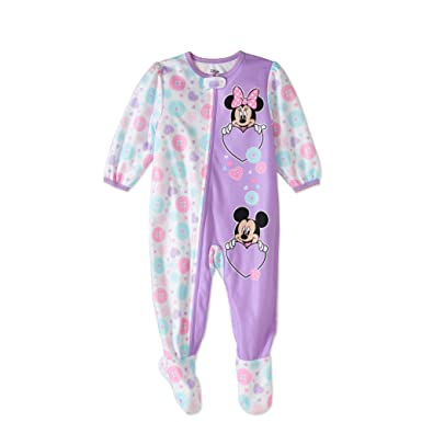 6cb913836879 Amazon.com  Disney Mickey and Minnie Mouse Fleece Footed Sleeper ...