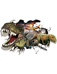 "Bird Fiy 3D Removable Jurassic Park Dinosaur 3D Hole View Waterproof Wall Stickers Kids Room Decor Nursery Home Decal Sticker Wall Sticker / Wall Mural - 24""X35""(YW002)"