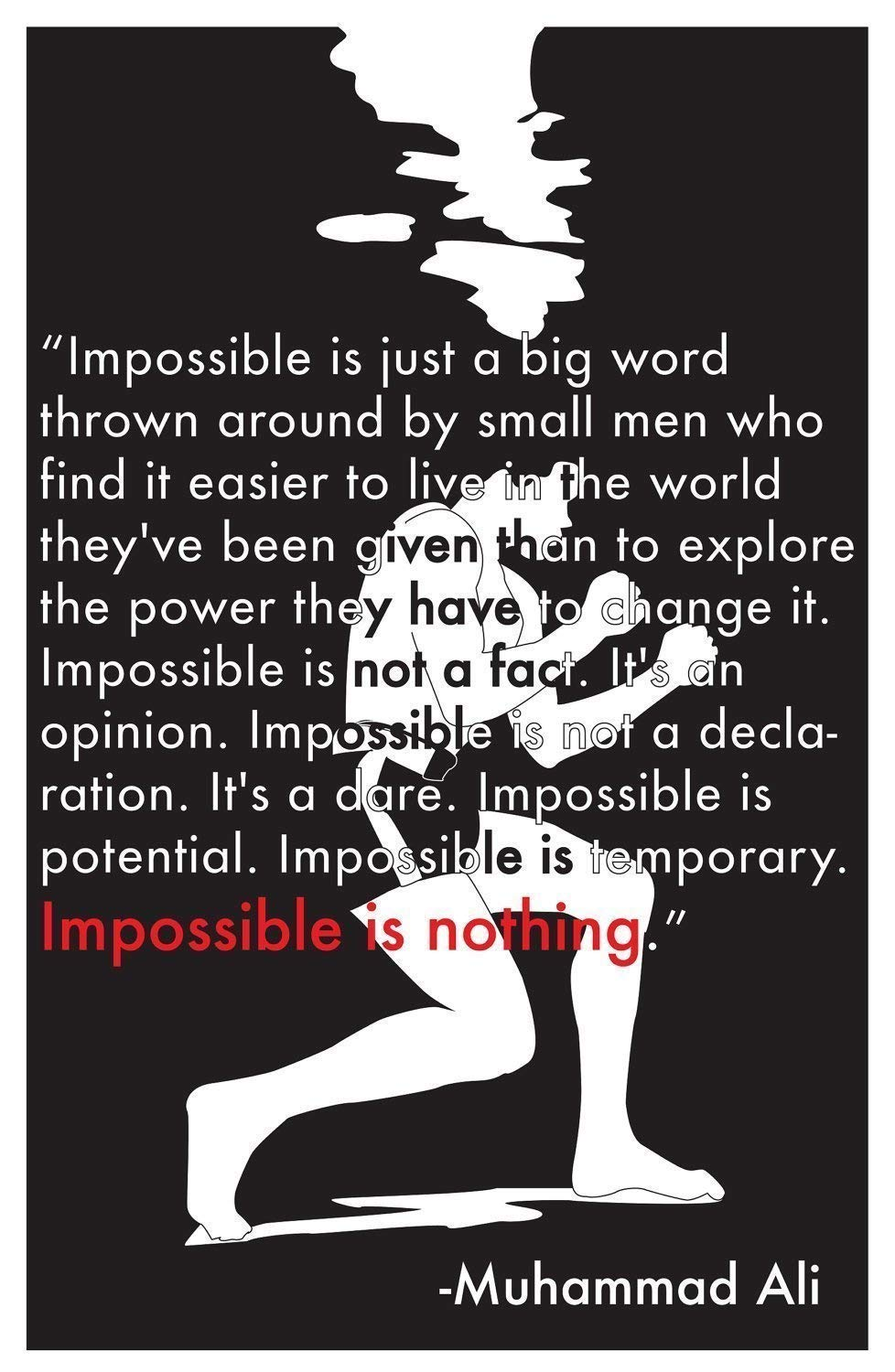 muhammad ali impossible is nothing poster