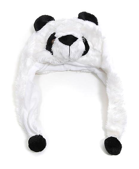e1575c1d1 Amazon.com: Kid's 'Hat-imals' Panda Bear Plush Winter Hat: Clothing