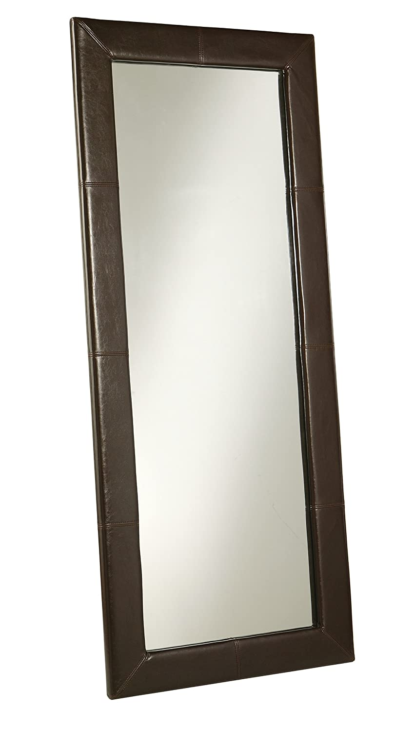 Amazon.com: Abbyson® Allure Brown Leather Floor Mirror: Home & Kitchen