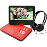 portable dvd player for kids for outdoor car ride use 106 inch red