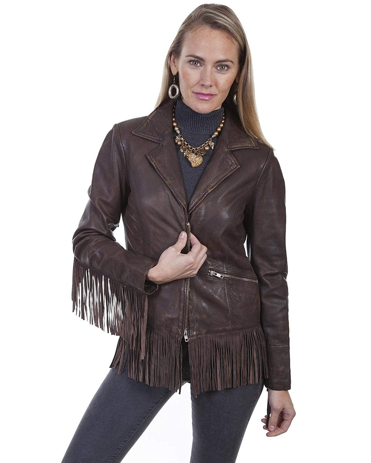 Scully Womens Leatherwear by Fringe Leather Jacket