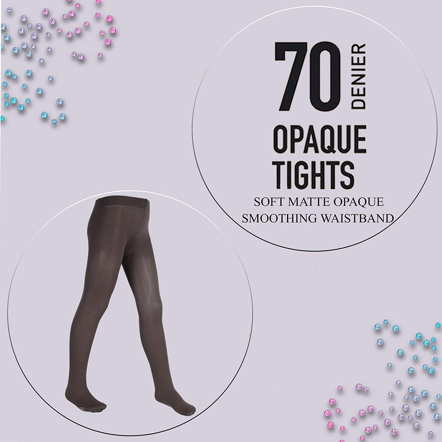 Girls Nude 70 Denier Back to School Footed Opaque Ballet Tights 6 Colours Age 3-13