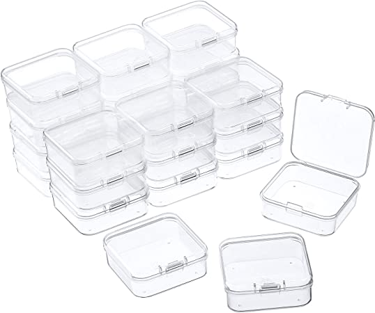 Transparent Plastic Storage Box Clear Rectangle Container Display Case Holder