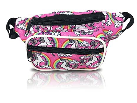 542bbd86467 Nineteen80something Fanny Pack For Children/Kids Size Waist Bag/For Boys,  Girls, Toddlers And Babies (Unicorn Pink)