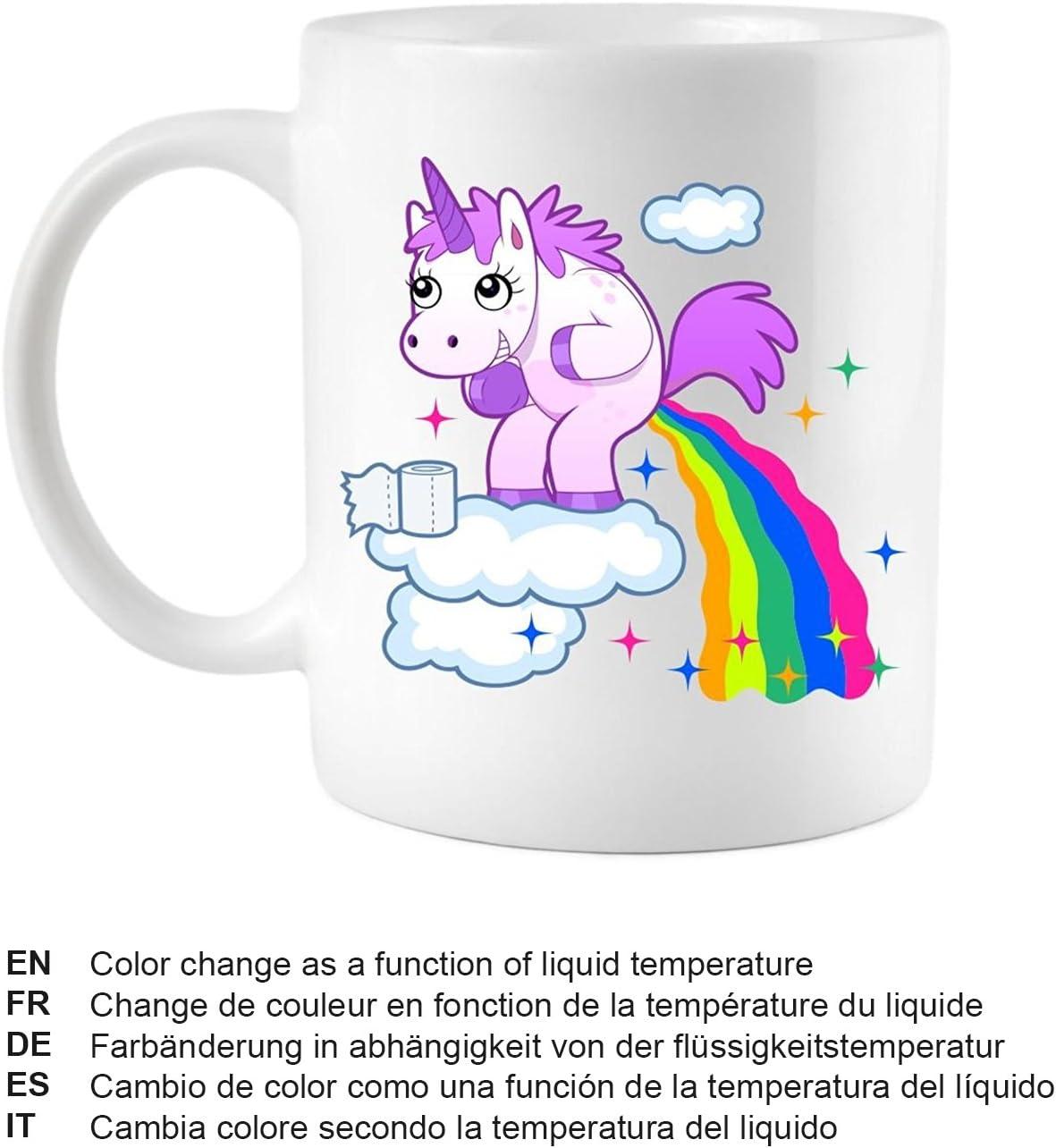 Legenden Mug Magique Licorne Change De Couleur En Fonction De La Température Du Liquide
