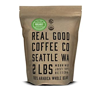 Real Good Coffee Co. Whole Bean Coffee, 2-Pound