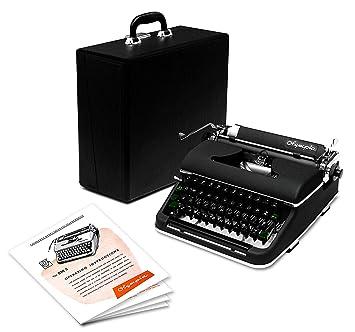 professionally-restored 1951 negro Olympia máquina de ...