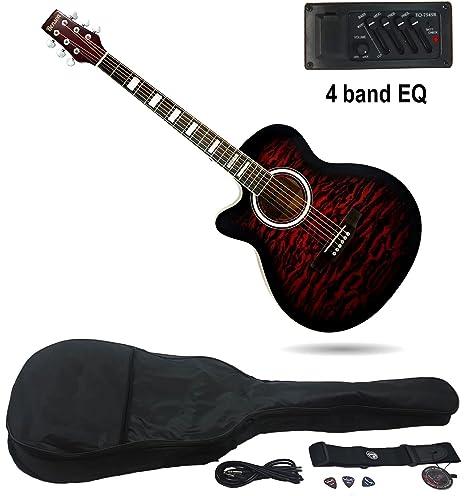 Benson zurdos Guitarra Eléctrica Electro Semi acústica Bundle (Smokey óxido)