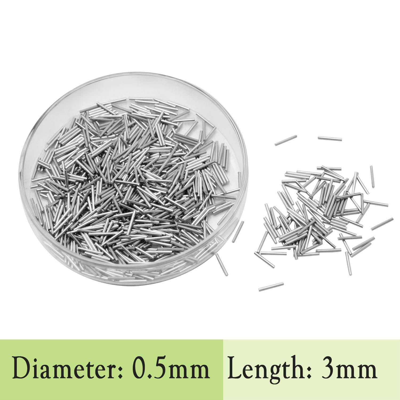 STAINLESS STEEL FINISHING PINS for Magnetic Tumbler Polisher Polishing Pins 0.50 x1/3/5/7/10mm (0.50 x3mm) B00YRKTVAY