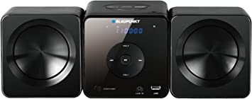 Blaupunkt MS5BK sistema de audio doméstico - Microcadena (Micro set, Negro, De 1 vía, 30W, FM, PLL, LED)