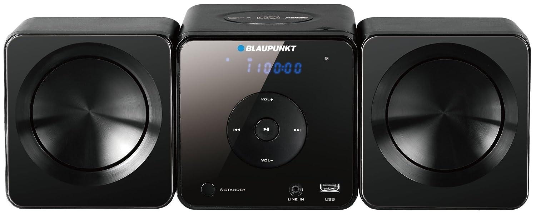 Blaupunkt MS5BK sistema de audio doméstico - Microcadena (Micro set, Negro, De 1 vía, 30W, FM, PLL, LED)