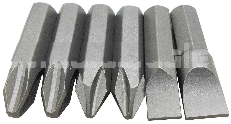 6pc Impact Driver Bits Precision Screwdriver Set Phillips /& Slotted CR-V Steel