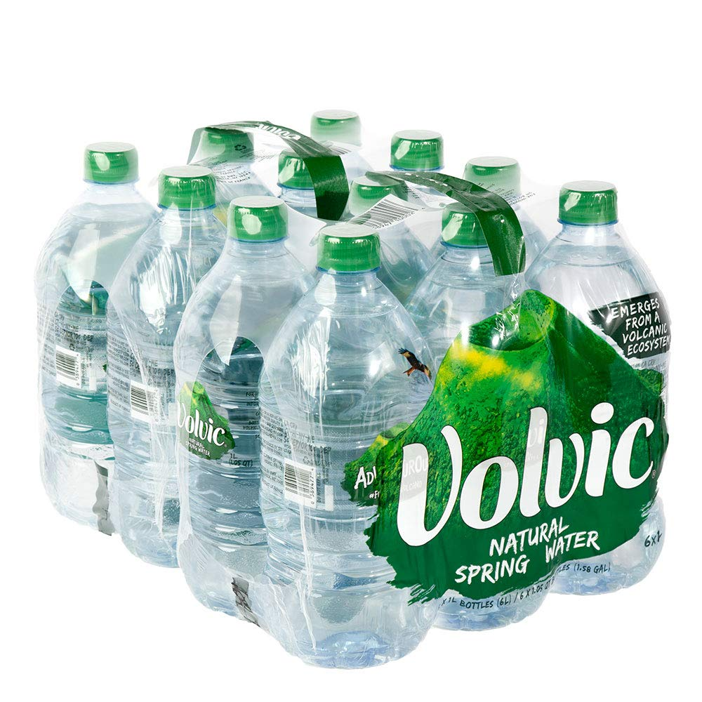 Volvic Natural Spring Water, 1.0- Liter Bottles (Pack of 12) by Volvic