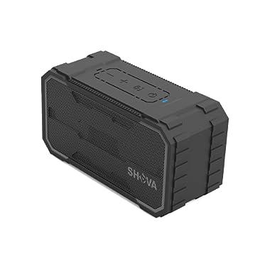 SHAVA Bluetooth Speaker, Outdoor IPX6 Waterproof Speaker, Portable Wireless Speaker 10W Drivers Speaker Enhanced Bass, Built in Mic Speakerphone, Aux-in, MicroSD for Beach,Pool,Party and Hiking(Ultra)