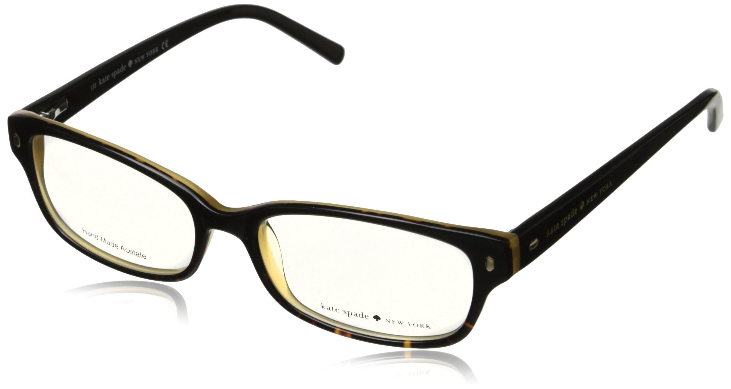 Kate Spade Lucyann Eyeglasses-0JYY Black Tortoise Fade-49mm