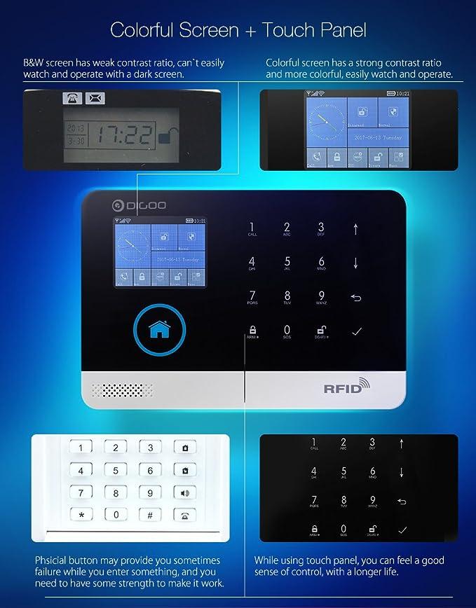 Sistema de seguridad radio-alarme, digoo 3 G los sistemas de ...