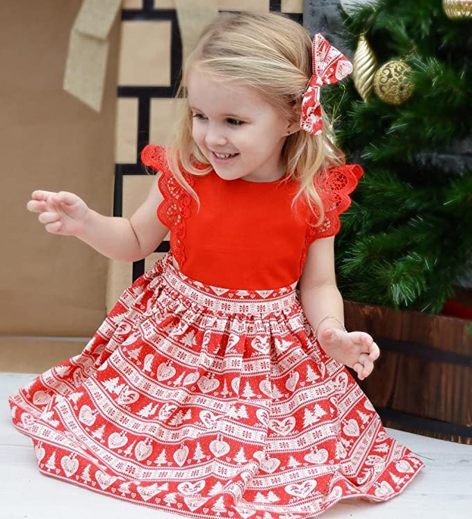 Amazon.com: Christmas Toddler Newborn Kids Baby Girls Dress Clothes Romper  Playsuit + Headband Outfits: Clothing - Amazon.com: Christmas Toddler Newborn Kids Baby Girls Dress Clothes