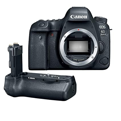 Canon EOS 6D Mark II Wi-Fi Digital SLR Camera Body with BG-E21 Battery Grip